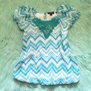 Adorable Chevron Print Dress by George